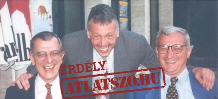 Az RMDSZ politikusai: Tokay György, Borbély László és Frunda György egy olyan fotón, mely valószínűleg a találkozókon készült