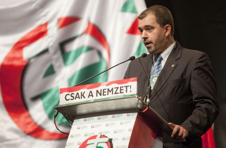 Szávay István, a Jobbik Nemzetpolitikai Kabinetjének elnöke. Fotó: bn24.ro