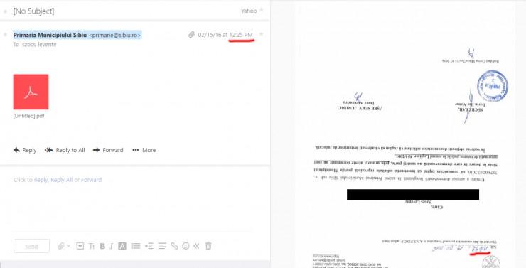 A polgármesteri hivatal válasza: a feje tetejére állított, névtelen pdf-fájl sokat elárul a sajtóhoz való viszonyulásáról is