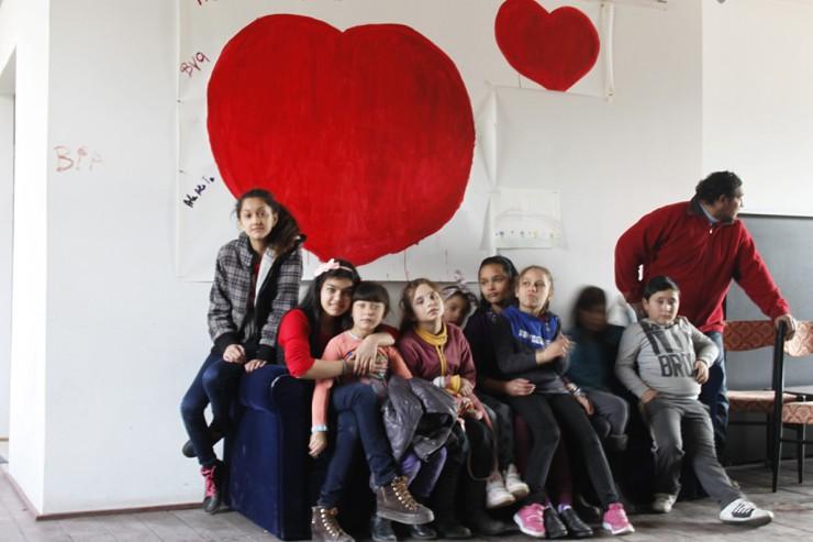 A projektben részt vevő gyerekek