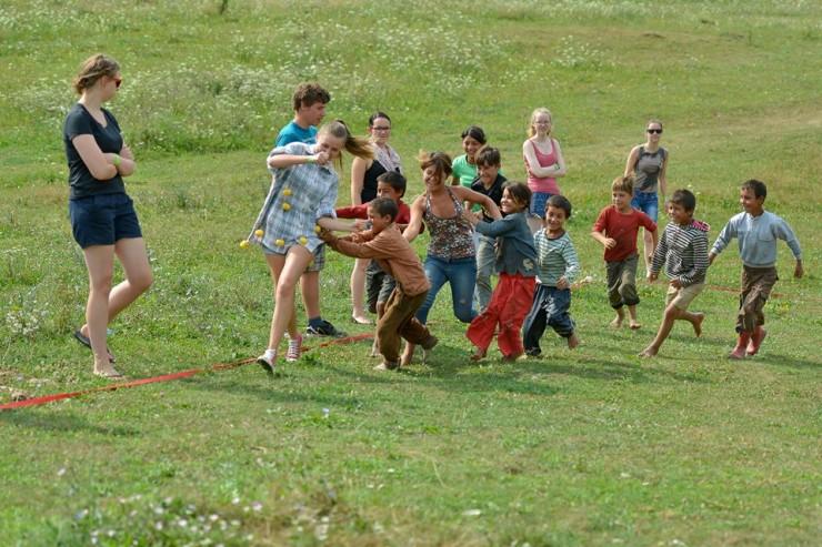 Interetnikus tábor. Fotó: Galambfalva község facebook oldala