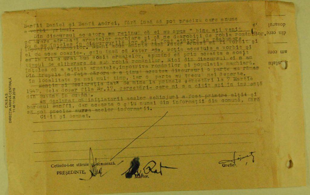 Alexandru Radu tanúvallomása 2. oldal