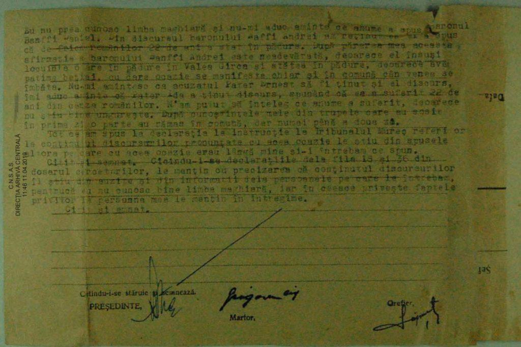 Testimony of Grogore Cif