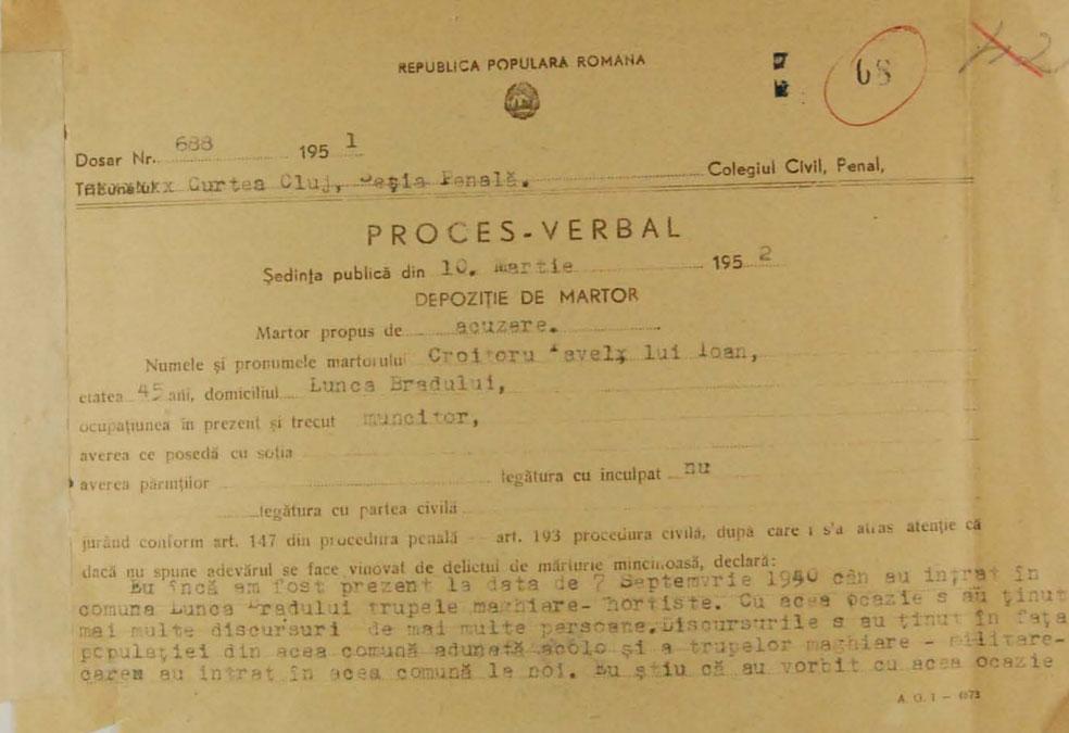 Testimony of Pavăl Croitoru