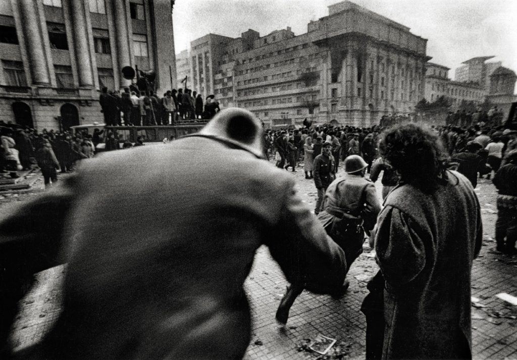 Tüntetők 1989-ben ukarestben. Fotó: Andrei Iliescu