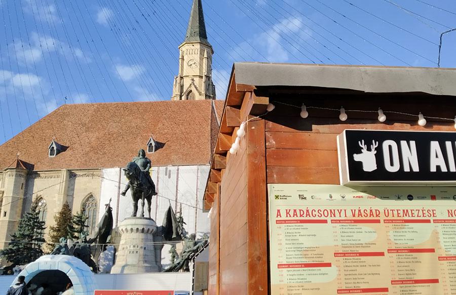 Bilingvism important la Târgul de Crăciun Cluj-Napoca