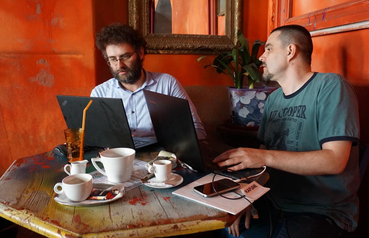 Toró Tibor (balra) és Kiss Tamás 2019 márciusában. Fotó: Sipos Zoltán
