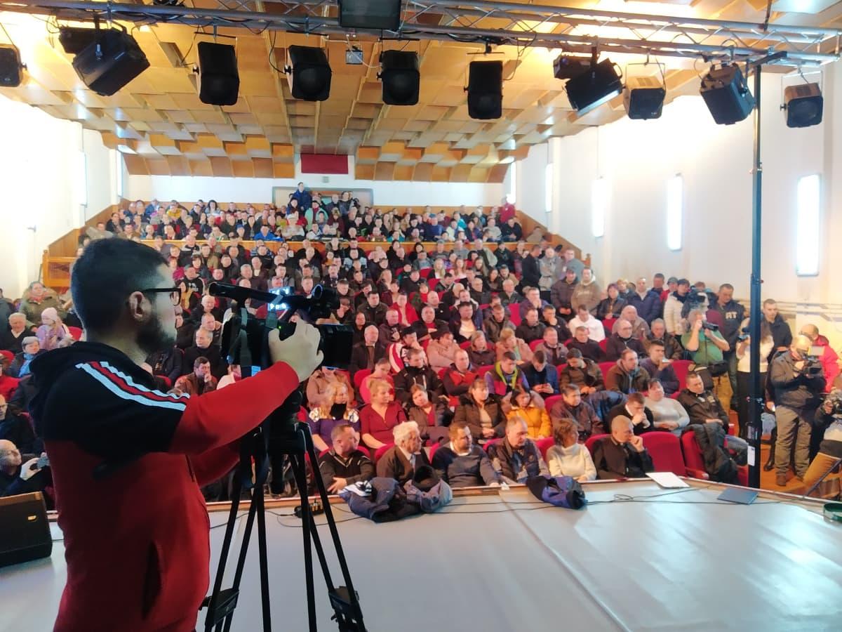 Falugyűlés Gyergyóditróban 2020 február 1.-én. Fotó: Sipos Zoltán