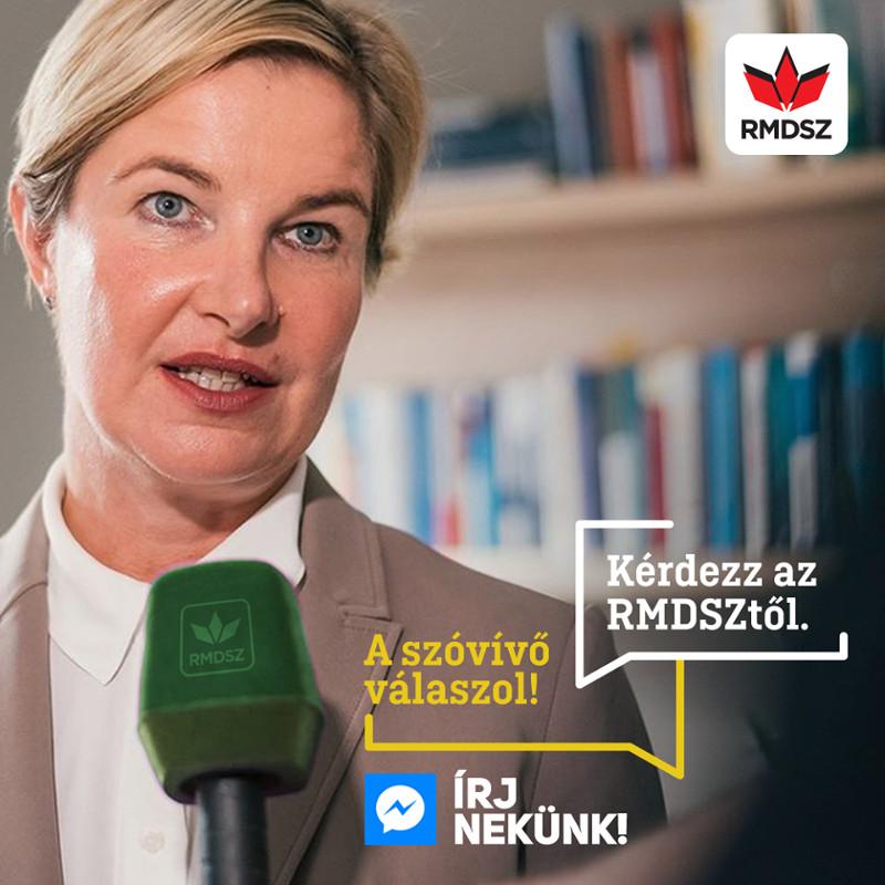 Hegedüs Csilla, az RMDSZ szóvivője. Fotó: RMDSZ Facebook-oldala