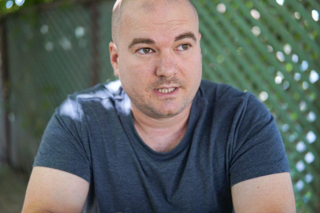 Veres Zsolt, a polgármester kihívója. Fotó: Egyed Ufó Zoltán