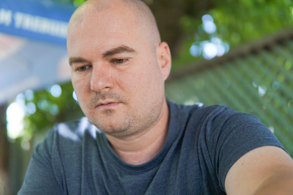 A polgármester kihívója, Veres Zsolt. Fotó: Egyed Ufó Zoltán