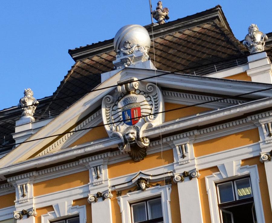 A kolozsvári városháza homlokzata