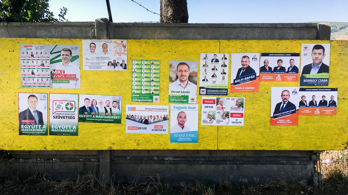 Jelöltek plakátjai