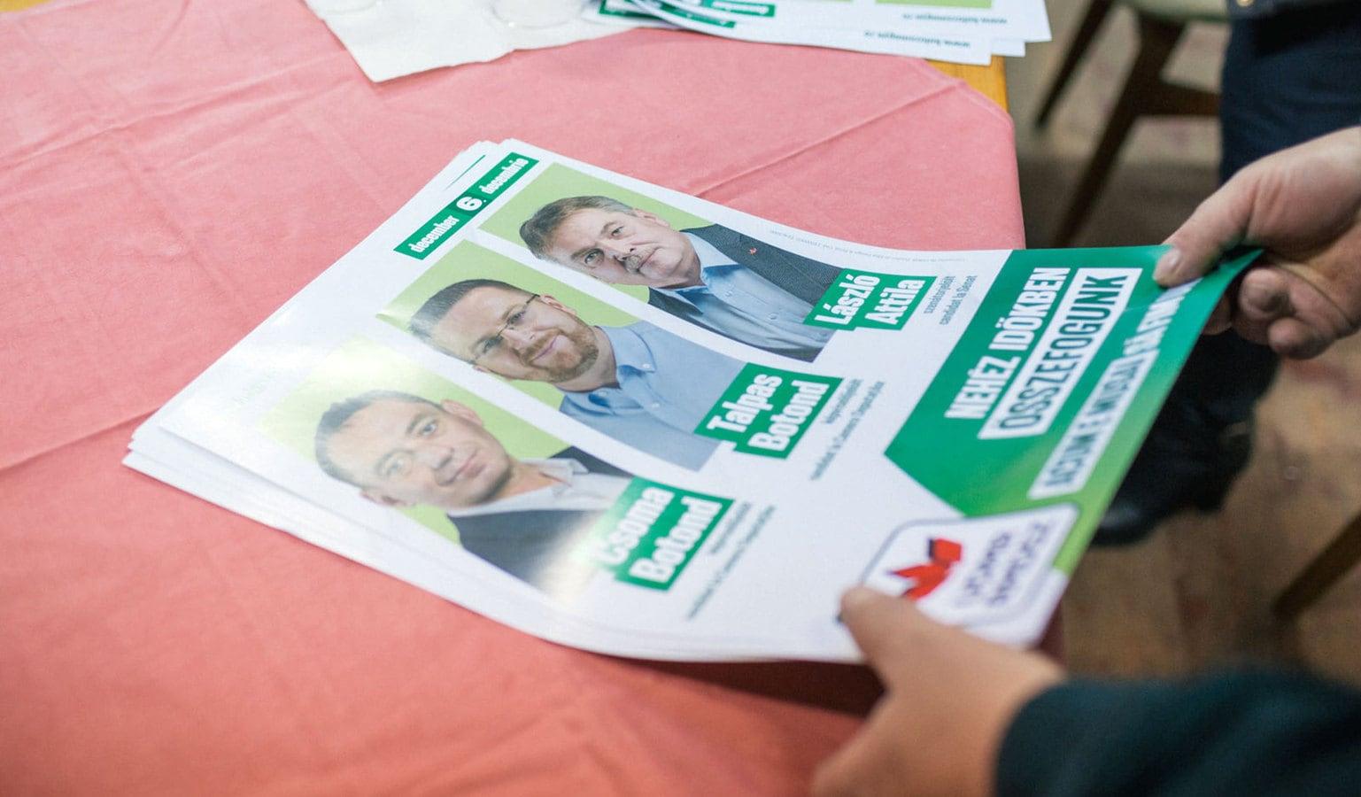 Választási plakát Kolozs megyéből